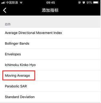 怎么在手机MT5上添加多条移动平均线